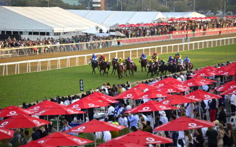 Durban July 2015 race where Power King Jockey won. Picture: Vodacom Durban July ‏@VodacomDbnJuly.
