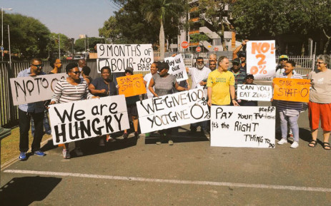 SABC staff protest over wages in Durban on 2 November 2017. Picture: Ziyanda Ngcobo/EWN