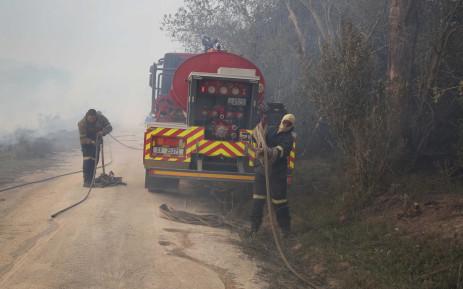 Western Cape firefighters. Picture: Bertram Malgas/EWN