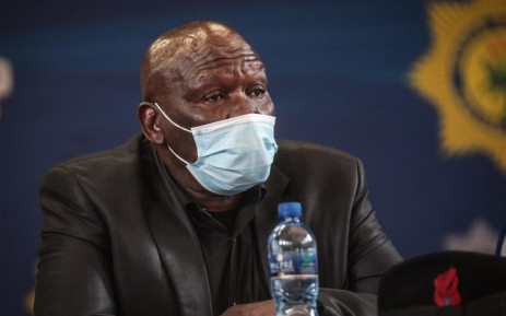 Police Minister Bheki Cele held a rural safety imbizo in the Bethlehem community hall on 12 November 2020 to discuss the issue of farm attacks in the area. Picture: Abigail Javier/EWN