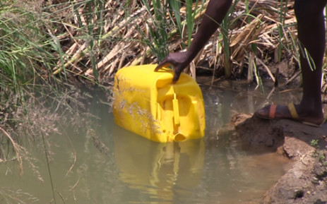FILE: A resident collects water from a river in the Marry Me informal settlement in Pretoria. Picture: Reinart Toerien/EWN.