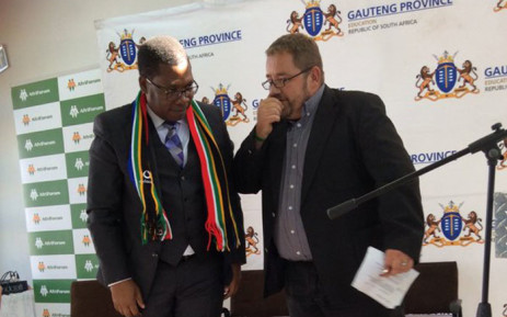 A debate, between AfriForum CEO Kallie Kriel and Lesufi in Tembisa, on the future of Afrikaans schools has been held in Thembisa. Picture: Thando Kubheka/EWN.