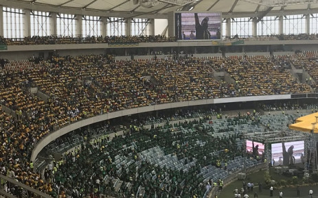 ANC supporters sing and dance at the Moses Mabhida Stadium in Durban ahead of the party's elections manifesto launch on 12 January 2019. Picture: Sethembiso Zulu/EWN.