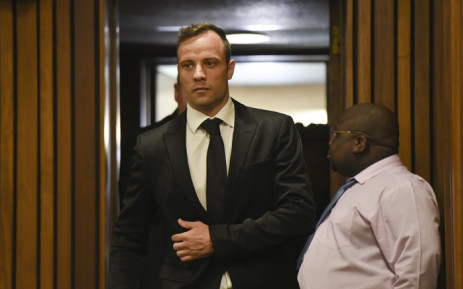 Oscar Pistorius arriving at the High Court in Pretoria ahead of his bail application on 8 December 2015. Picture: Pool.