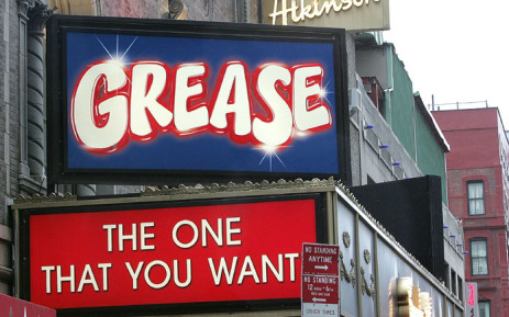 FILE: The marque at the opening night of the new production of 'Grease' on Broadway at the Brooks Atkinson Theatre on 19 August 2007 in New York City. Picture: AFP