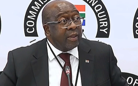 FILE: A video screengrab shows Finance Minister Nhlanhla Nene giving testimony at the state capture commission of inquiry on 3 October 2018. Picture: SABC Digital News/youtube.com