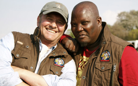 Leon Schuster and Kenneth Nkosi in the movie Mad Buddies. Picture: Touchstone Pictures