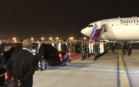 President Cyril Ramaphosa has arrived in Beijing with a high-level delegation for his first state visit to China. Picture: Clement Manyathela/EWN