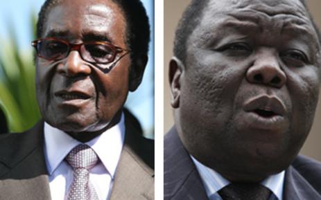 Zimbabwean Politicians: Zanu-PF leader Robert Mugabe and MDC leader Morgan Tsvangirai