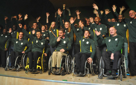 Team SA's squad for the 2012 London Parlympic Games. Picture: Wessel Oosthuizen/Sascoc