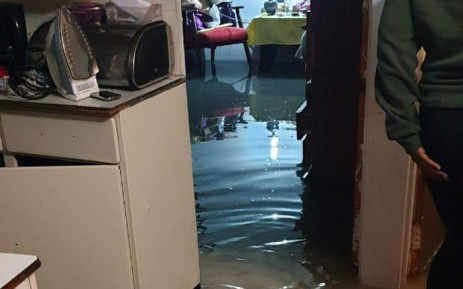 A Manenberg home was flooded after heavy rain in Cape Town. Picture: Supplied.