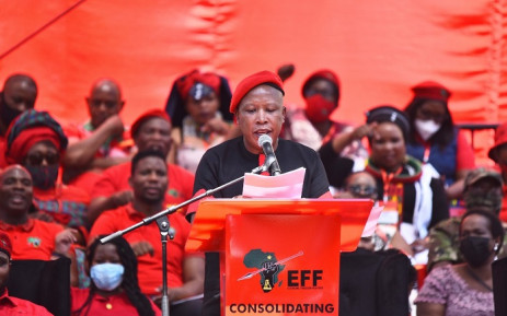 EFF leader Julius Malema addressed the party's manifesto launch on 26 September 2021. Picture: @EFFSouthAfrica/Twitter.