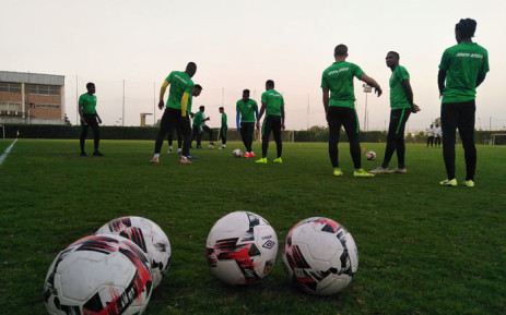 The SA U23 side at a training session. Picture: @SAFA_net/Twitter