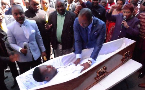 The 'miracle' performed at Alleluia Ministries International. Picture: Alph Lukau