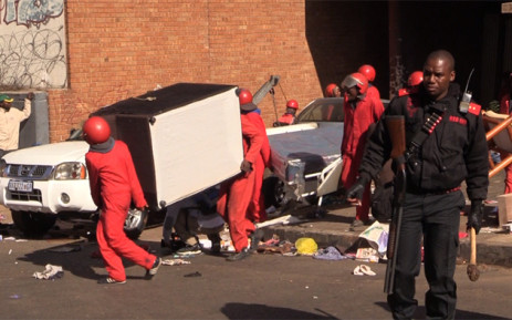 Red Ants move in and ship people and they belongings onto the streets in Johannesburg.Picture : Kgothatso Mogale/EWN