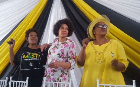 ANC presidential candidate Lindiwe Sisulu (C) at a rally in Vanderbijlpark on Saturday. Picture: @LindiweSisuluSA.