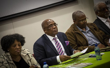 Health Minister Aaron Motsoaledi and members from various sectors brief the media on listeriosis and counterfeit food. Picture: Kayleen Morgan/EWN