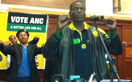 Deputy President of the ANC Youth League Ronald Lamola. Picture: Malungelo Booi/EWN