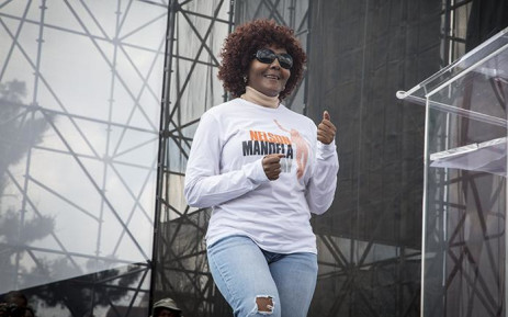 FILE: Former President Nelson Mandela's grand daughter Ndileka Mandela dances before she addresses the crowd at the Freedom Movement rally against the leadership of President Jacob Zuma in Pretoria on 27 April 2017. Picture: EWN