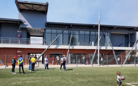 Facilities at the hub include an artificial turf football field, which is connected to Youth Café; a training academy; ICT & eLearning centre; transversal office spaces; psychosocial support centre and shop units. Picture: @Mphomoerane/Twitter