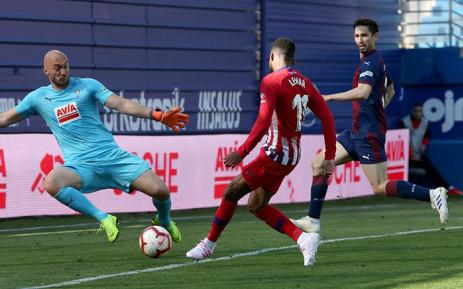 Atletico Madrid's Thomas Lemar in action during their La Liga match against Eibar. Picture: @AtleticodeMadrid/Facebook.com.