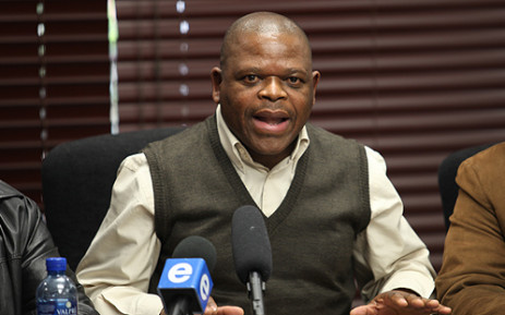 NUM's Frans Baleni says the union is shocked following the murder of its chairperson at Lonmin's platinum mine in the North West. Picture: Taurai Maduna/EWN.