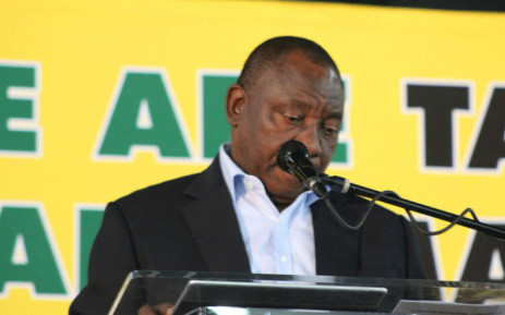 FILE: President Cyril Ramaphosa speaks during the first day of the ANC's Land Summit in Boksburg. Picture: @MYANC/Twitter