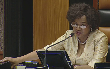 FILE: A screen grab of parliamentary speaker Baleka Mbete watching on during the 2016 State of the Nation debate on 16 February 2016. Picture: YouTube.