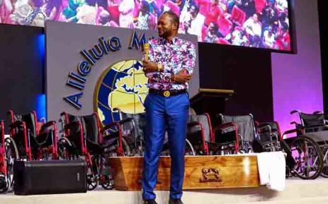 Alleluia Ministries International church leader Alph Lukau. Picture: @AlleluiaMinistriesInternationalOfficialPage via Facebook.