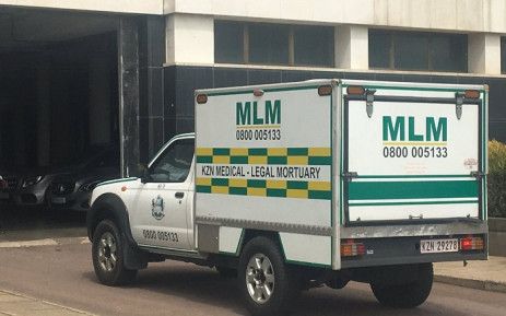 The mortuary van at the Durban Magistrates Court where two people were shot dead and one critically injured on 26 November 2018. Picture: Ziyanda Ngcobo/EWN