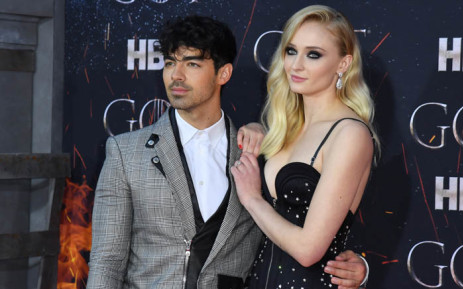 """British actress Sophie Turner and singer Nick Jonas arrive for the """"Game of Thrones"""" eighth and final season premiere at Radio City Music Hall on 3 April 2019 in New York City. Picture: AFP."""
