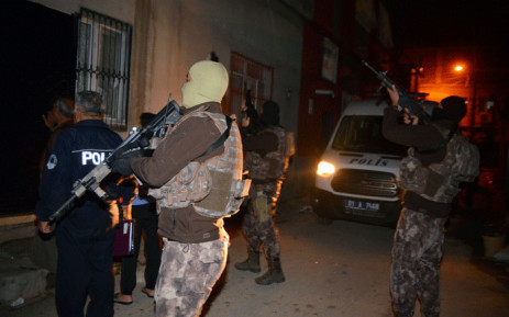 FILE: Members of the Turkish special police force take part in a house raid to arrest suspected members of the Islamic State group, in Adana, on 10 November 2017. Picture: AFP.