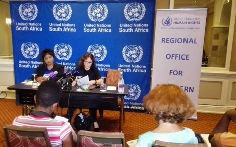 UN special rapporteur Dubravka Simonovic briefing media in Pretoria on Friday 11 December 2015. Picture: Thando Kubheka/EWN.