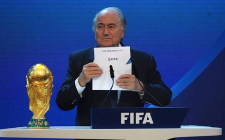 FILE: Fifa President Sepp Blatter unveils Qatar as the host nation of the 2022 Fifa World Cup. Picture: Facebook.com