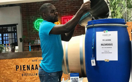 Pienaar and Son Distilling Company is selling the ethanol the company produces as a waste product so that people can make their own hand sanitisers at home. Picture: Pienaar and Son Distilling Company