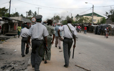 FILE: Mozambique police on patrol. Picture: AFP