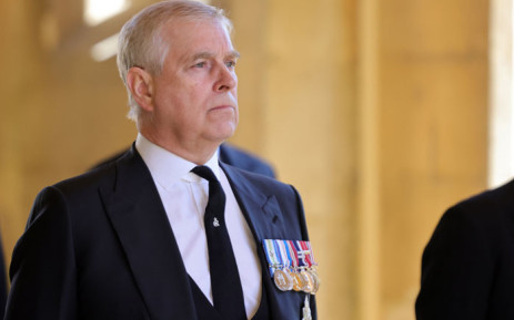 FILE: Britain's Prince Andrew, Duke of York, attends the ceremonial funeral procession of Britain's Prince Philip, Duke of Edinburgh to St George's Chapel in Windsor Castle in Windsor, west of London, on 17 April 2021. Picture: Chris Jackson/AFP