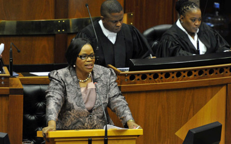 FILE: Late National Freedom Party (NFP) leader Zanele kaMagwaza-Msibi in Parliament in 2014. Picture: GCIS