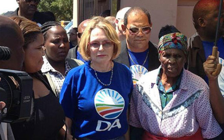 DA leader Helen Zille prepares to lay a wreath at the Sharpeville memorial on 21 March 2013. Picture: Shain Germaner/EWN