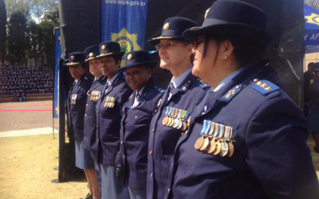 Family members, members of the SAPS, the president, the police minister & the national police commissioner gathered at the Union Buildings on Sunday 6 September 2015 to honour the men & women who were killed in the line of duty. Picture: Thando Kubheka/EWN