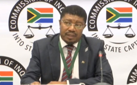 A screengrab of Ipid's Matthews Sesoko appearing at the Zondo Commission on 25 September 2019.