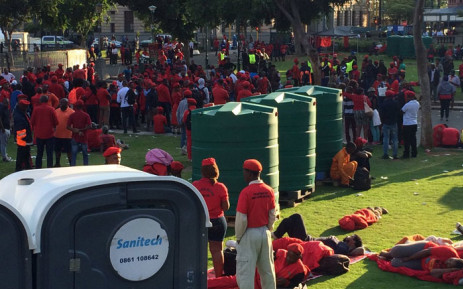 Thousands of people are converging in the capital city this morning ahead of planned marches to the Pretoria Regional Court. Picture: Barry Bateman/EWN.