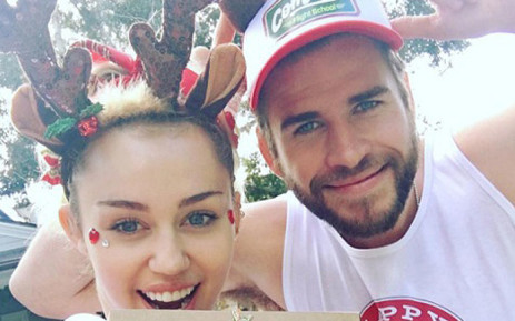Miley Cyrus with her fiancé Liam Hemsworth. Picture: instagram.com