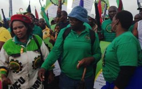FILE: Members of mining union, Amcu. Picture: EWN/Mia Lindeque