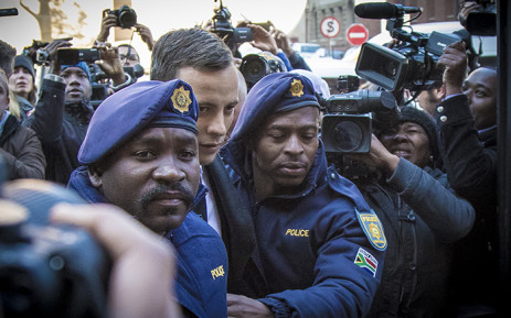"""FILE: Oscar Pistorius arrives at High Court in Pretoria on 6 July 2016. Picture: Thomas Holder/EWN."""""""