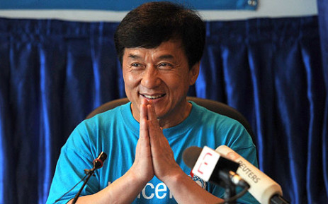 Hong Kong action film star Jackie Chan. Picture: AFP