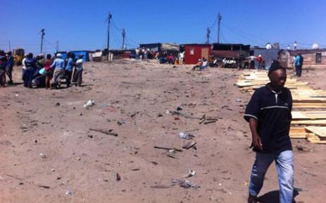 At least 90 shacks burnt down in Philippi leaving more than 200 people homeless. Picture: Siyabonga Sesant/EWN.
