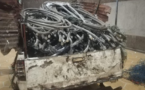 A 48-year-old man was arrested in Pretoria for tampering with essential infrastructure, distribution of critical infrastructure and theft of copper and electrical feeder cables. Picture: @SAPoliceService/Twitter