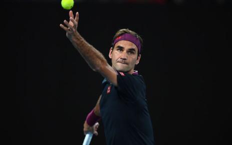 Roger Federer serves during his second round Australian Open match against Filip Krajinovic on 22 January 2020. Picture: @AustralianOpen/Twitter