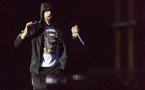 US singer Eminem performs at the Orange Stage during Roskilde Festival 2018, in Roskilde, Denmark, on 4 July 2018. Picture: AFP